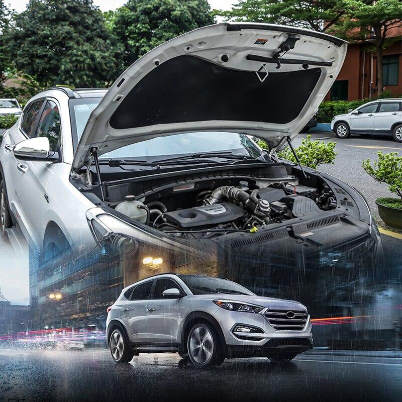 Pour Hyundai Tucson 2016 17 18 2019 couvercle de moteur en acier inoxydable tige de Support poteaux de Support de capot hydraulique ressorts à gaz