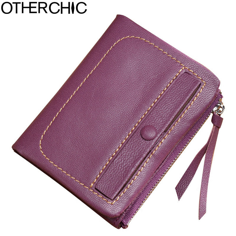 Genuine Real Leather Women Short Wallets Small Soft Wallet Tassel Coin Pocket Card Wallet Female Purses Money Clip 6N12-28