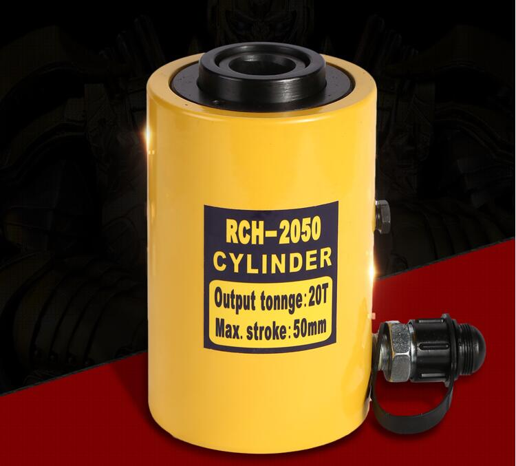 Hollow Hydraulic Jack Max. Stroke 50mm Cylinder Multi use Manual Oil Pressure Hydraulic Lifting and Maintenance Tools RCH 2050