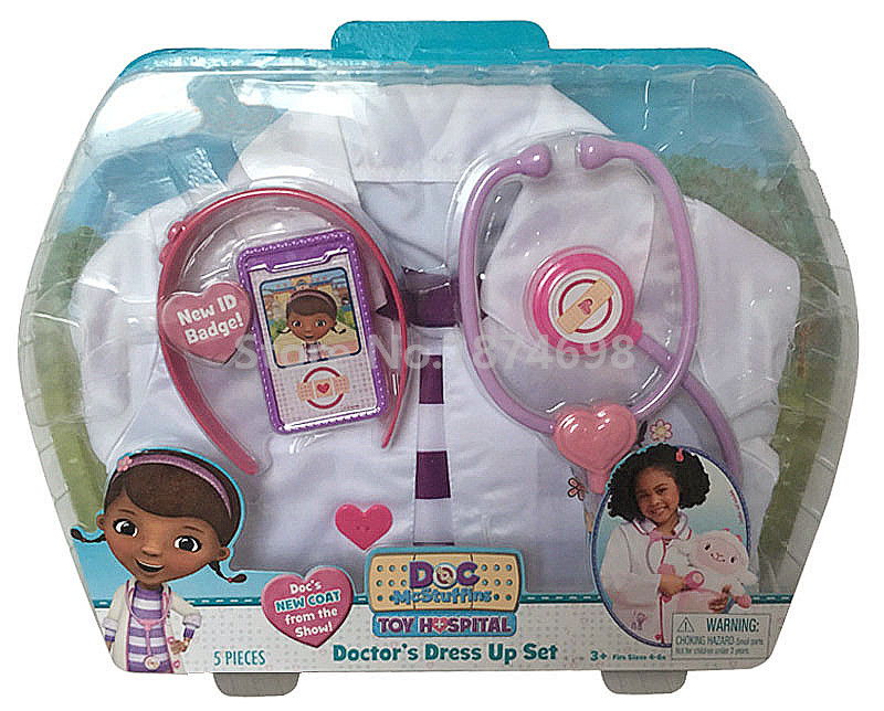 New Doc McStuffins Doctor s Dress Up Set Doctor s Lab Coat With Tools and accessories