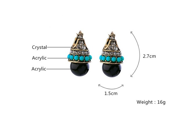 JOOLIM Jewelry Wholesale/ Vintage Boho Style Teardrop Earring Folk Earring Free Shipping Indian Earring Tribal Earring 5