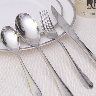 2017 High Quality New Mirror Polished Stainless Steel Wedding Cutlery Set Knife Coffee Fork Steak And Whole In Dinnerware Sets From Home