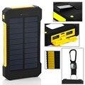 Viajar Banco de la Energía Solar Banco de la Energía 10000 mAh Dual USB Batería Externa Cargador Portátil Batería Externa para el teléfono Móvil