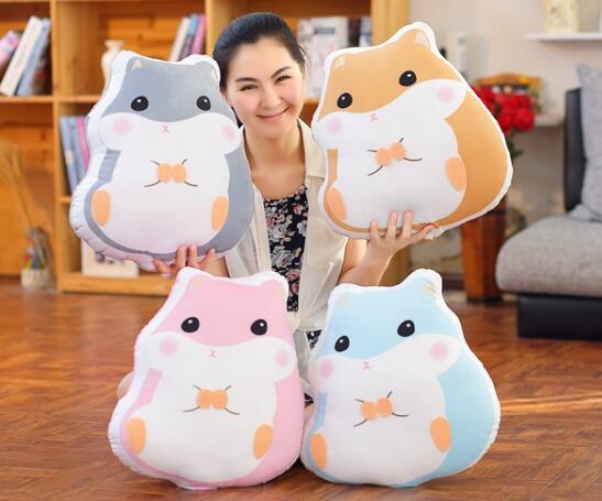 ФОТО candice guo! super cute plush toy cushion simulation fat hamster pillow home decoration children girls birthday gift 1pc