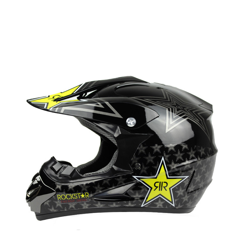 цена на Rockstar motorcycle helmet ATV Dirt bike downhill cross capacete da motocicleta cascos motocross off road helmets