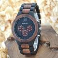 Bewell madera reloj del negocio de los hombres relojes deportivos hombres reloj de cuarzo cronógrafo reloj para hombre relojes reloj caja de regalo 116a