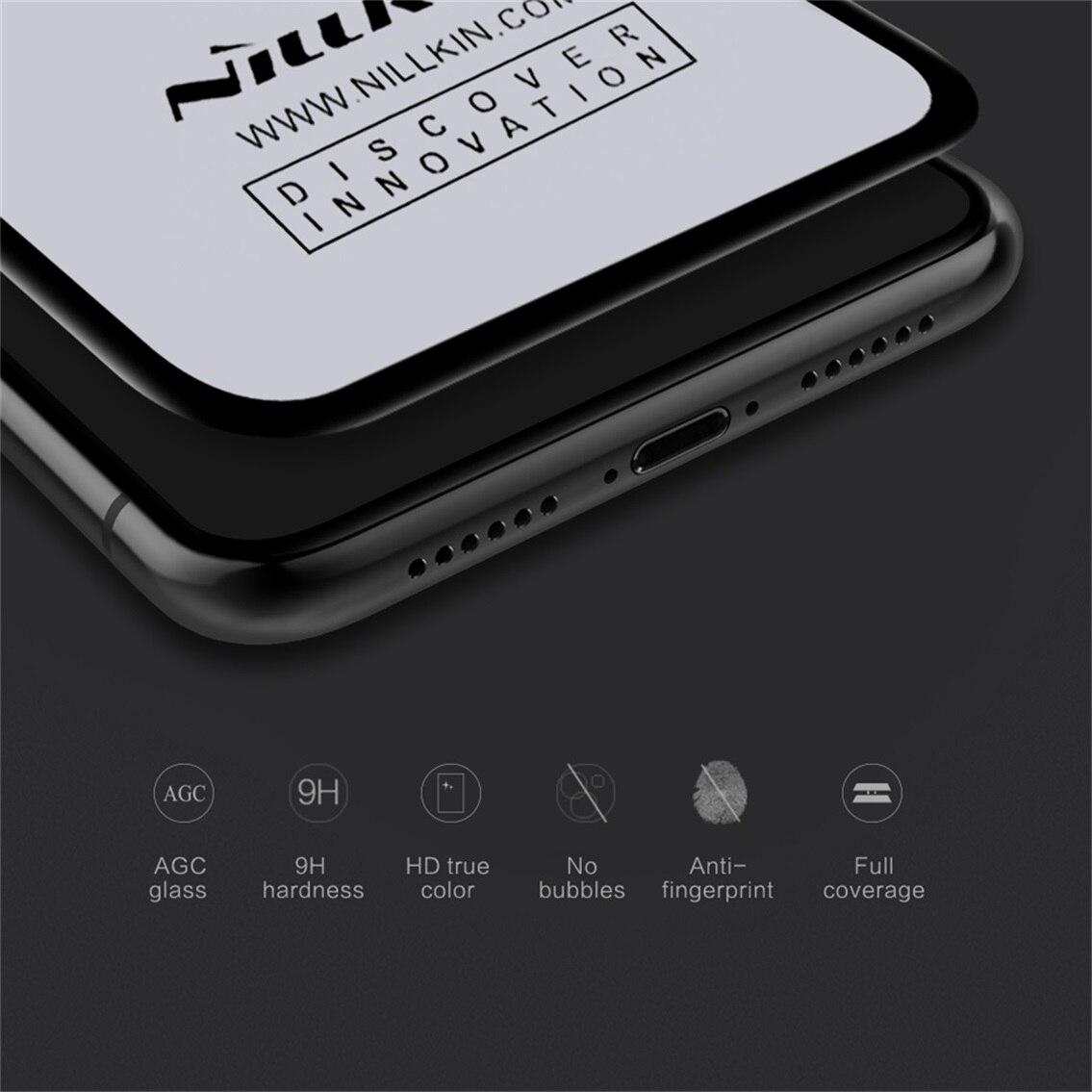 dc93faea46f 3D de vidrio templado para iPhone XS Max Protector de pantalla para iPhone  XR/XS/X NILLKIN increíble de la cubierta completa anti-burst película  protectora