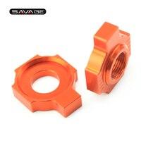 Chain Adjuster For KTM SX F SXS 85 125 150 250 350 380 450 520 525 540 LC4 640 SMC 660 Motorcycle Accessories Regulator Sliders