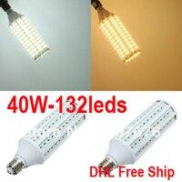 E27 B22 5730 мозоли СИД AC 220 В 110 В лампы освещения, 40 Вт 50 Вт, белый и теплый белый, DHL Бесплатная доставка