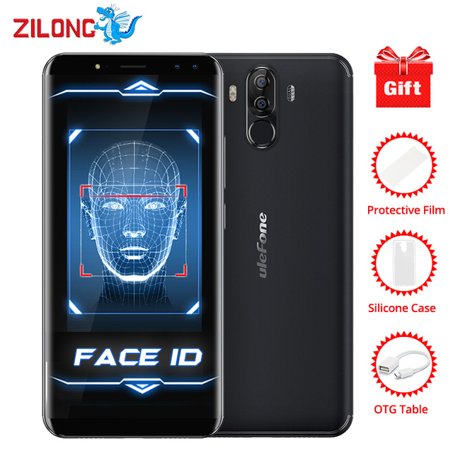 "Ulefone Power 3 Face ID 6.0"" 18:9 Display 6GB RAM 6080mAh Mobile Phone MTK6763 Octa Core 64GB ROM Android7.0 OTG 21MP Smartphone"