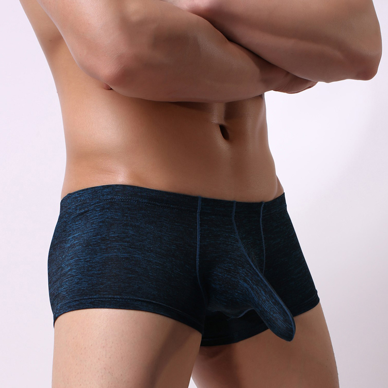Men's Ice Silk Seamless Underwear Elephant Nose Anti-Humid Bullets Boyshort Men's Underwear Men's Sexy Underwear Boxershorts Men