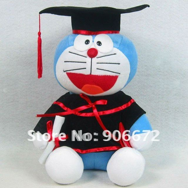 Graduation Gift Dr.Doraemon Bachelor of clothes plush toys 30cm free shipping children toys TV&MOVIE