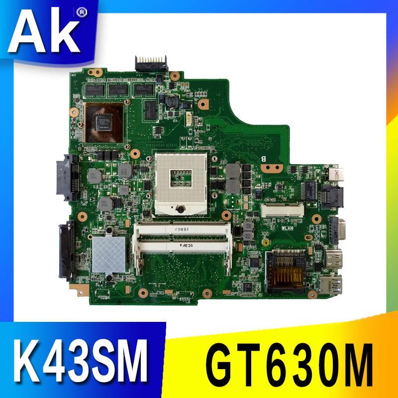 K43SM motherboard REV4.1 GT630M 1GB For ASUS A43S X43S K43S K43SV K43SJ N13P GL2 A1 HM65 DDR3 Laptop mainboard free shipping-in Moederborden van Computer & Kantoor op AliExpress - 11.11_Dubbel 11Vrijgezellendag 1