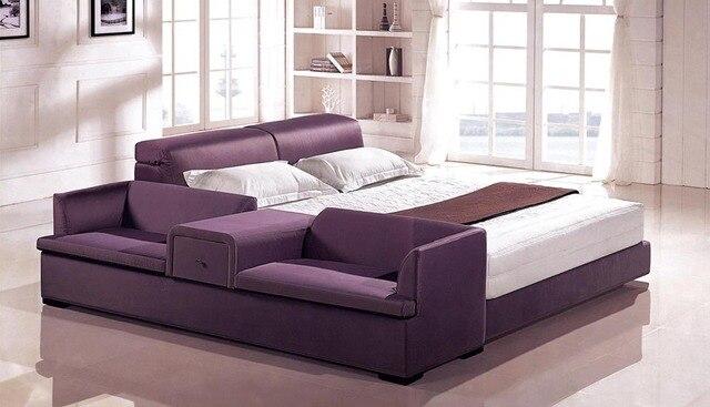 Madera cama doble con cajones F116 en Camas de Muebles en AliExpress ...