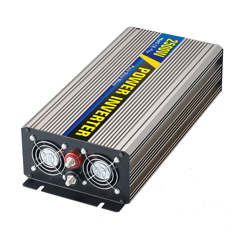 High efficiency 2500W Car Power Inverter Converter DC 12V to AC 110V or 220V Pure Sine Wave Peak 5000W Power Solar inverters цена