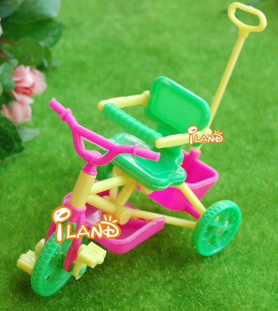 "iland 1:12 Dollhouse Miniature Vehicle Plastic colorful Child's Tricycle 5""X3"" HE001B Free Shipping Classic toys"