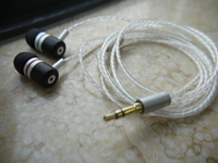 DIY IE800 Earphone 5N Silver Plated Wire Macassar Ebony Shell