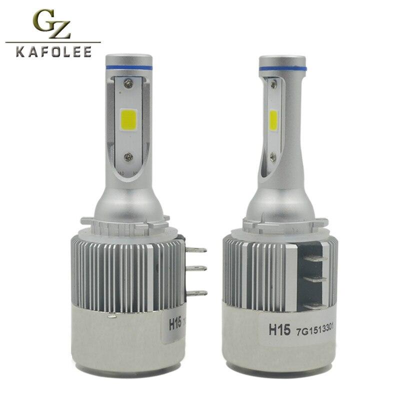 Gzkafolee Car Headlight H15 LED Light Automobiles led lamp 6000K 72W 8000LM Stronger decoding