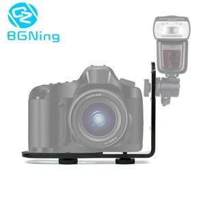 """Image 5 - Bgning Enkele L 1/4 """"Schroef Vormige Foto Studio Light Bracket Statief Camera Led Flash Houder Voor Canon Nikon Slr camera Led"""