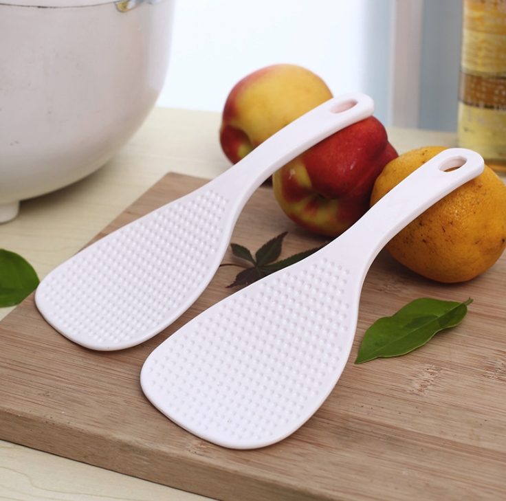2Pcs Rice Spoon Japanese Sushi Environmental Non Stick Cooker Kitchen Tool Tableware Spoons Meal PP Health