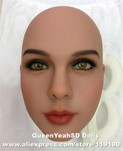 #74 Top quality sex doll head, heads for full silicone love doll, oral sex products