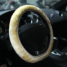 New Arrival Soft Short Plush Car Steering Wheel Cover Autumn Winter Driver Driving Accessory