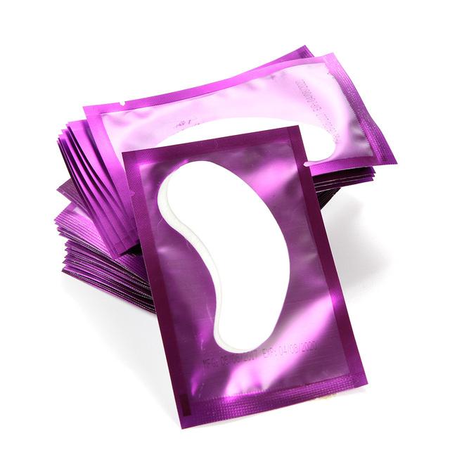 50 Pairs/lot Eye Pads Eyelash Extension Paper Patches Lint-free Eye Tips Sticker Wraps Make Up Tools Eyelash Tweezers Helper