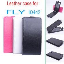 Mode luxe Flip peinture en cuir magnétique Wallet Case Cover cas de téléphone d'origine pour Fly IQ442 Smartphone