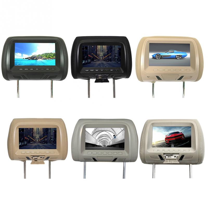 Universal 7 Inch Headrest Monitor Car Monitors With Built In Speaker Car LED HD Wireless Remote Control Navigation DVD PAL/NTSC(China)