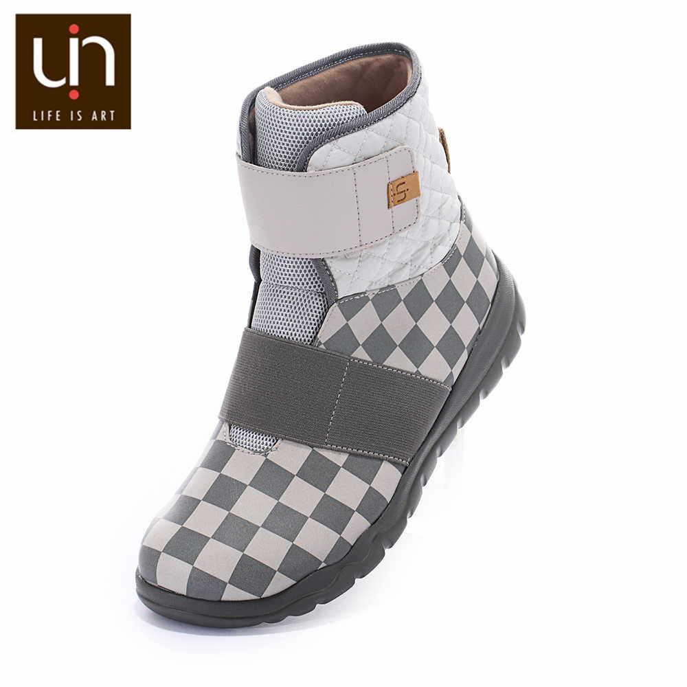 UIN Halifax serisi sıcak sonbahar/kışlık botlar kadın mikrofiber süet ayakkabı bayanlar yarım çizmeler için açık spor hafif
