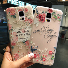 KaiNuEn coque,cover,case for Samsung galaxy S5 i9600 s 5 silicone silicon luxury 3d flower transparent tpu phone back cute