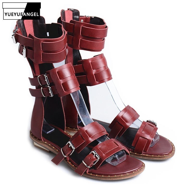 Street Casual Ladies Summer Flat Sandals Shoes Vintage Back Zip High Quality Leather Peep Toe Gladiator Sandals Yellow/BlackStreet Casual Ladies Summer Flat Sandals Shoes Vintage Back Zip High Quality Leather Peep Toe Gladiator Sandals Yellow/Black