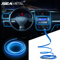 3 5 M 12 V Car LED Droplet Lights Flexible Neon EL Wire With Cigarette Lighter