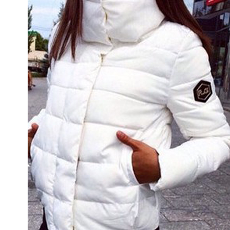 Black 2017 Parkas Female Winter Coat Jacket Thick Cotton down Stand collar coats turtleneck padded jackets Womens Outwear Women black 2017 new parkas female winter coat jacket thick cotton down hooded coats turtleneck padded jackets womens outwear women