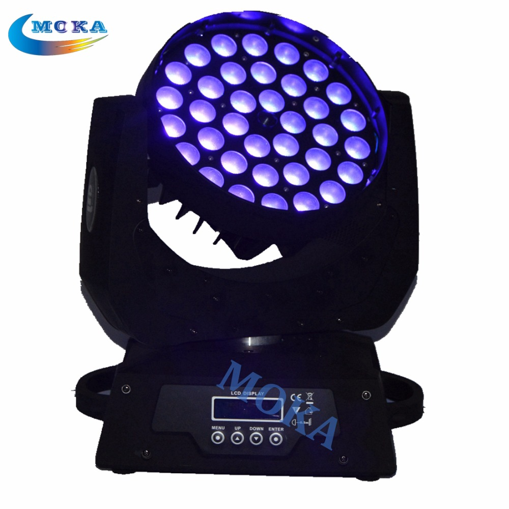 6pcs/lot 36*18W Led Moving Head Light Spot 6 in 1 RGBWY+UV Led Wash Light