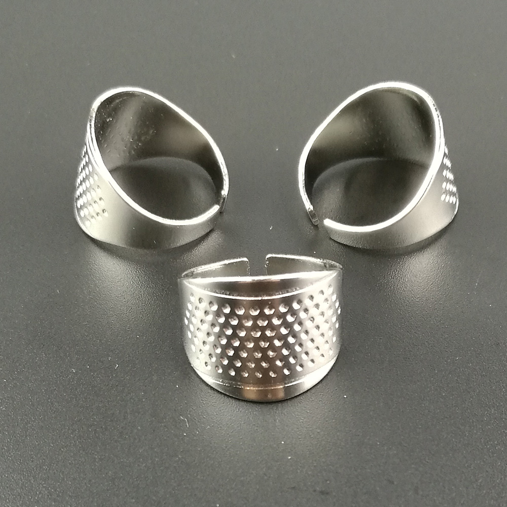 3pcs Adjustable Metal Sewing Thimble Finger Shield Protector Pin Needles Quilting Craft Accessories DIY Sewing Tools Size M