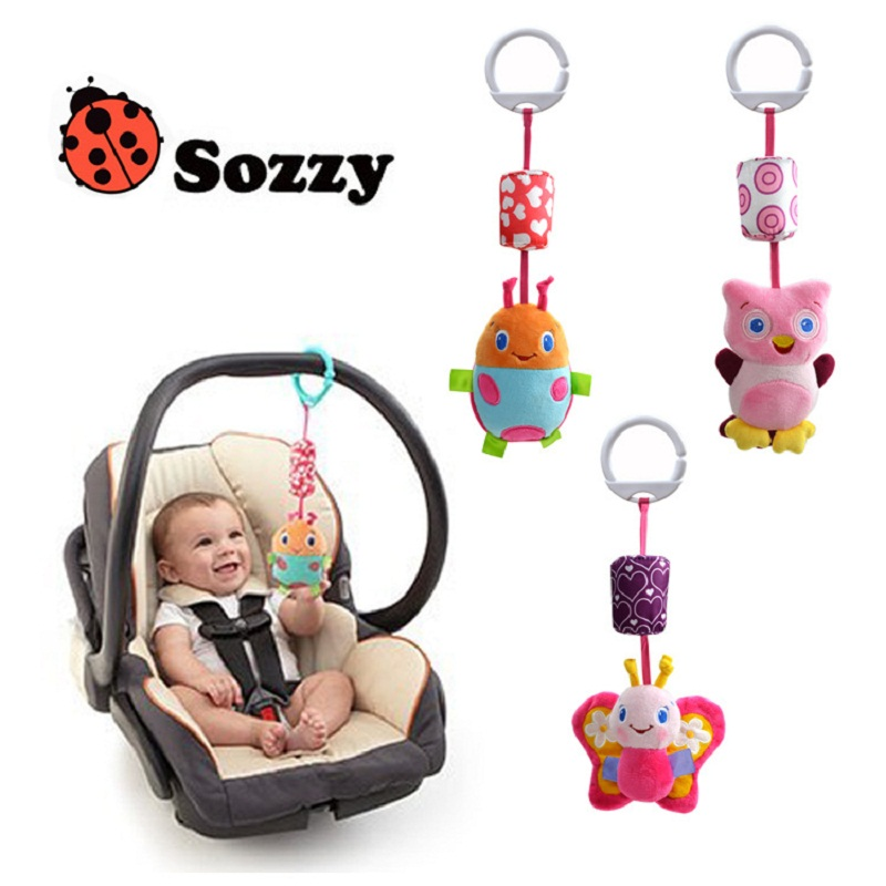 [Sozzy] sozzy Top quality Kids Toy,children christmas gift soft Animals bed car Hanging Ring Bell Rattle