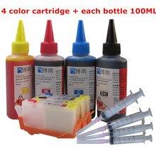 Cartouches dencre universelles 655 ML, rechargeables, 4 couleurs, pour hp Deskjet 3525/4615/4625/5525/6520/6525 + Dey, 400