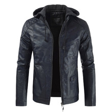 Fall/winter 2019 new mens fashion trend hat leather jacket