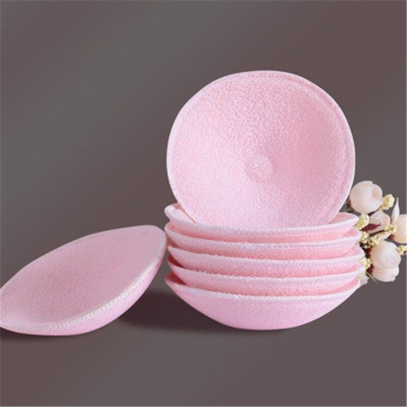 2Pcs Feeding Breast Pads Washable Reusable Breastfeeding Breast Nursing Pad Pink Soft Absorbent Cotton Anti-overflow Nursing Pad