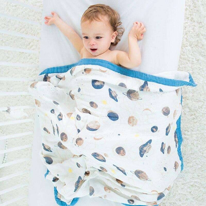 Multifunctional 4 Layers Baby Bamboo Blanket Bedding