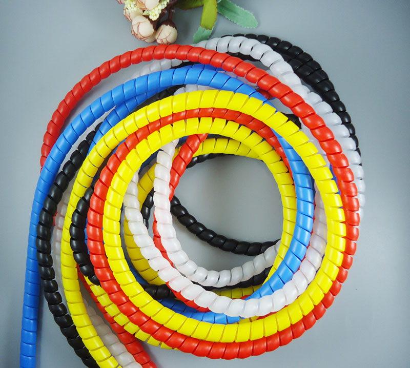 8mm Spiral Wire Organizer Wrap Tube Flame retardant colorful spiral bands diameter Cable casing Cable Sleeves Winding pipe 2M 1 bag 10mm spiral wrapping tube flexible cable sleeves flame retardant winding pipe black white spiral wire