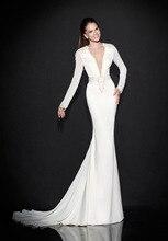 White Mermaid Evening font b Dress b font Long Sleeve Women font b Dresses b font