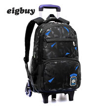 Children School Backpack Wheels Trolley Bag Waterproof Removable Backpacks Bags For Girls