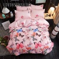 LOVINSUNSHINE Comforter Bedding Sets Bedding And Bed Sets Colorful Butterfly Themed Duvet Cover King Size AB#21