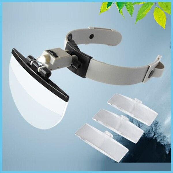 2X 3.8X 4.5X 5.5X casco lupa con luces LED reparación de joyería lectura lupa con 4 lente