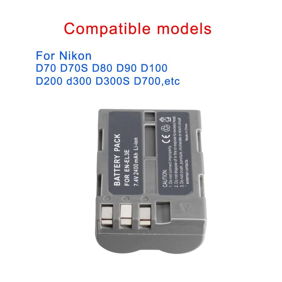 PALO Battery for Nikon EN-EL3e EN EL3e ENEL3e Battery For Nikon D300S D300  D100 D200 D700 D70D70S D80 D90 D50 D70 D-100 D-300