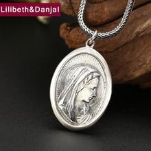 2019 Creative Virgin Mary Portrait Pendant 100% 925 Sterling Silver Men Women Necklace Pendant fine Jewelry sieraden maken P36
