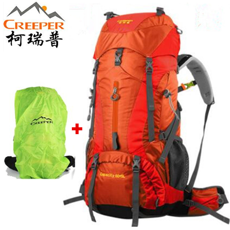 Creeper Outdoor Backpack 65 L Camping Climbing Bags Hiking Backpack For Travel Nylon Waterproof Sports Bags Mountaineering Bag high quality 55l 10l internal frame climbing bag waterproof backpack suit for outdoor sports travel camping hinking bags
