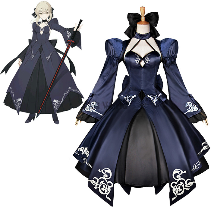Fate Zero Nalter 2nd Saber Full Dress Formal Dress Uniform Anime Outfit Cosplay Costumes